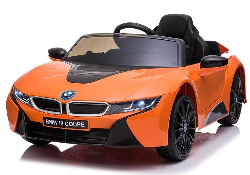 Bmw I8 Eva Räder Kinderauto Kinderfahrzeug Kinder Elektroauto Orange Ebay